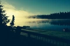 Mist-on-Lake
